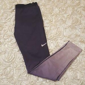 Nike Pro Hyperwarm purple ombre leggings